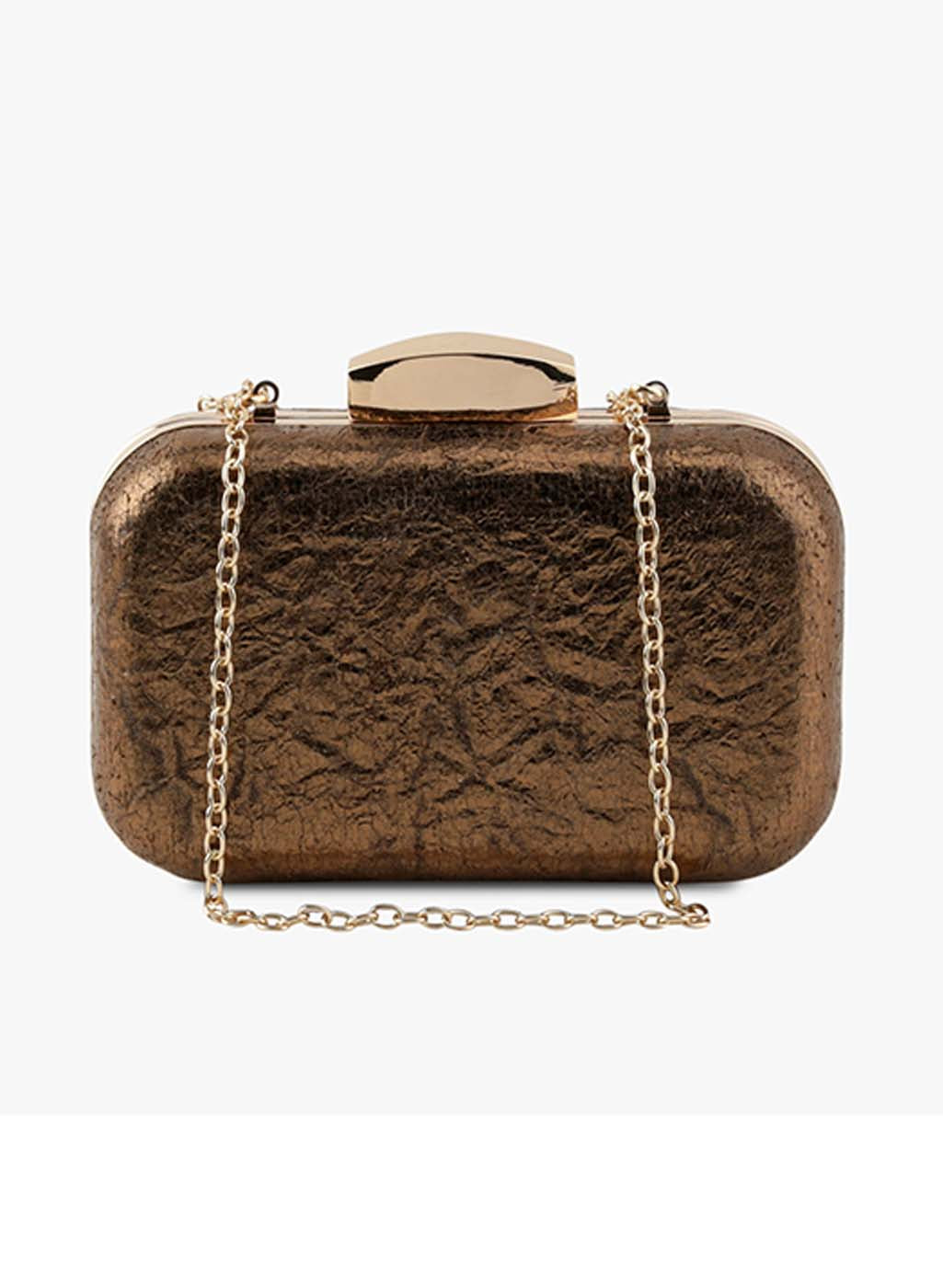 Gwen Dull Gold Clutch