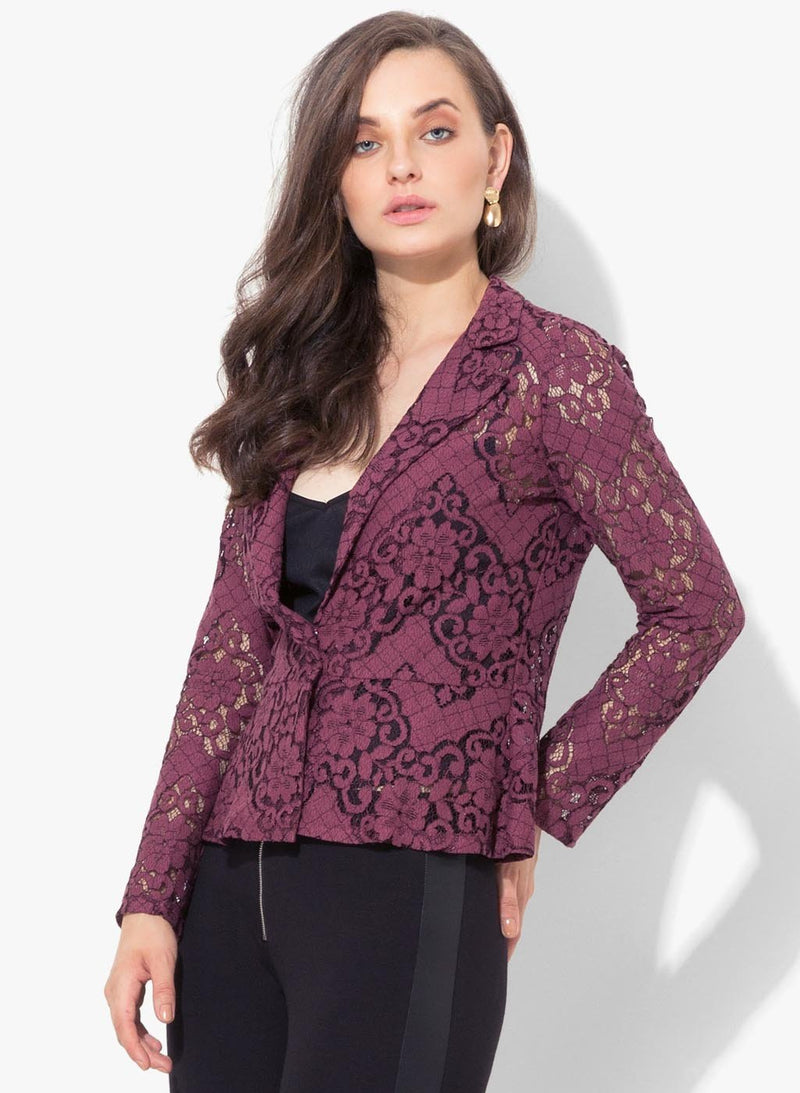 Lorena Lace Lapel Collar Jacket (Buy 2 Get Extra 30% Off)