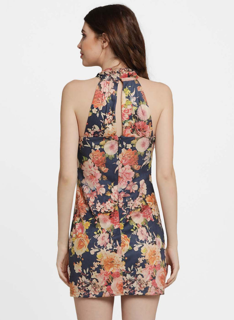 Evelyne Printed Halter Neck Top