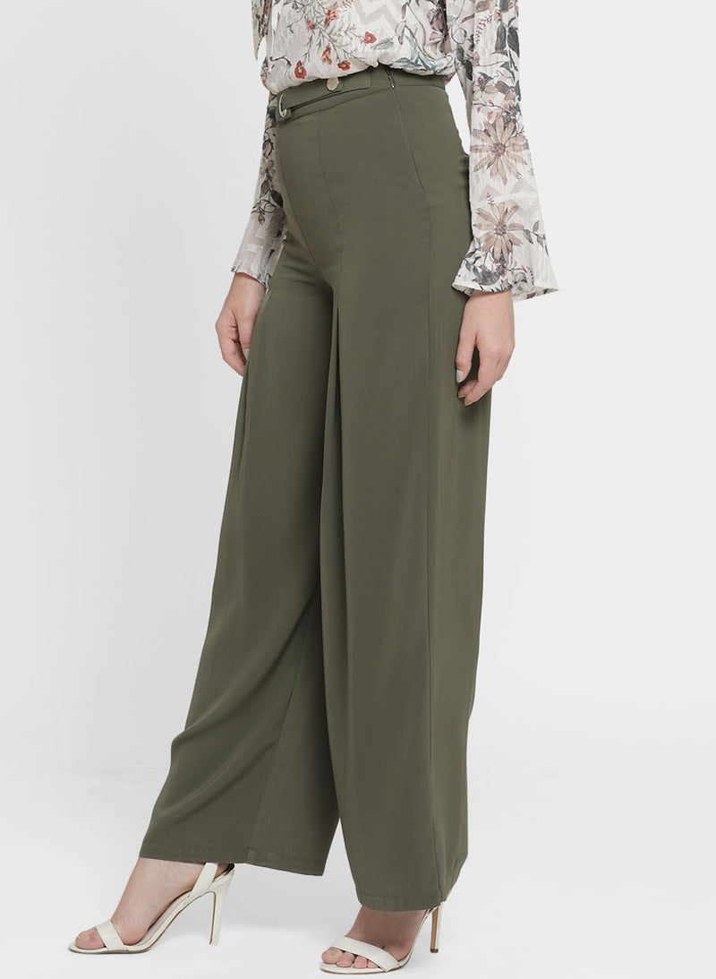 Claire Metal Button High Waisted Palazzo (Buy 2 or more Get 20% Off)