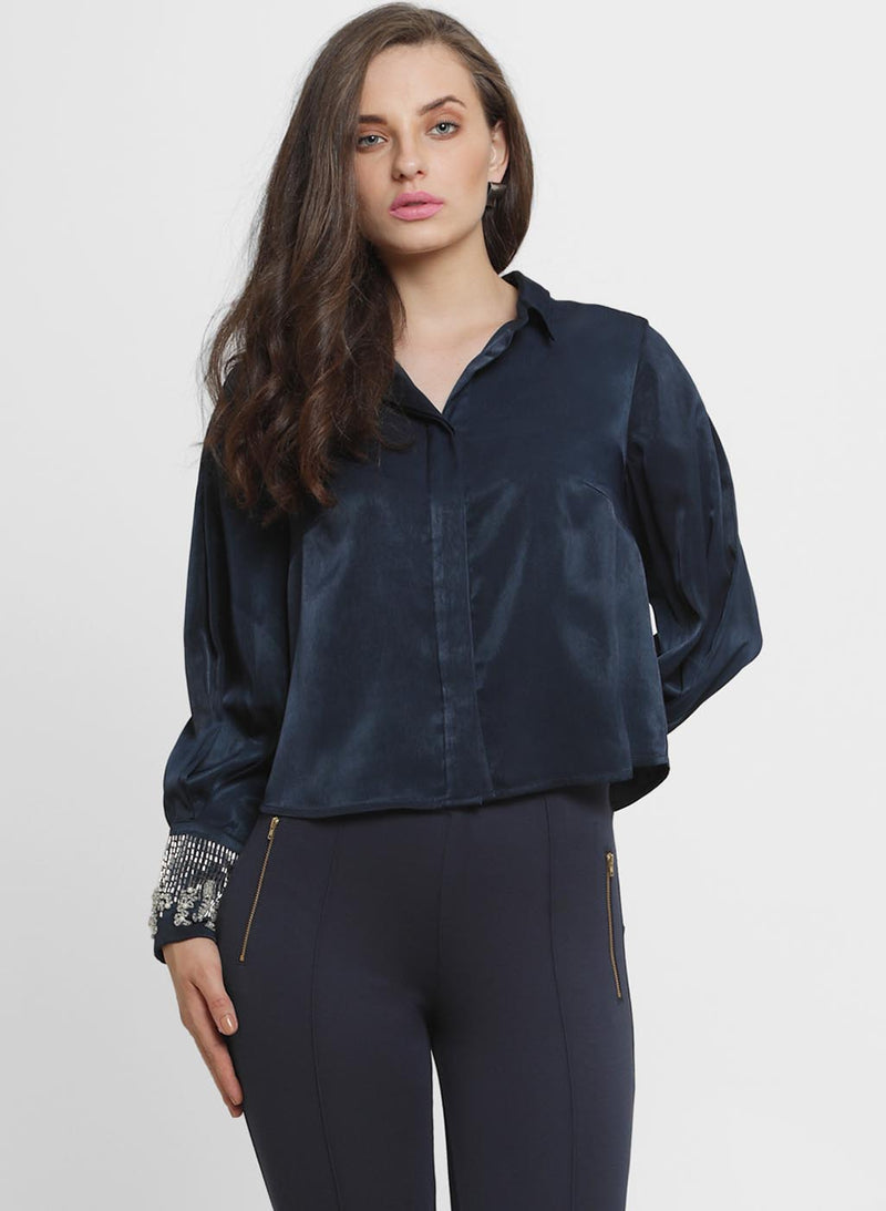 Alison Embroidered Collar Shirt