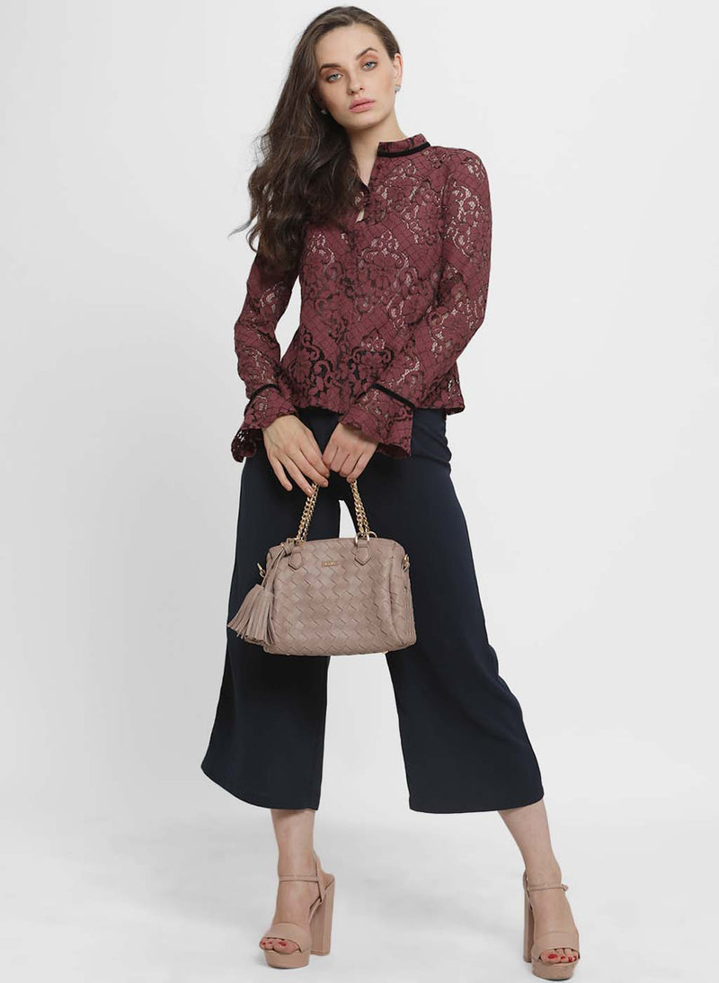 Lorena Lace Collar Shirt
