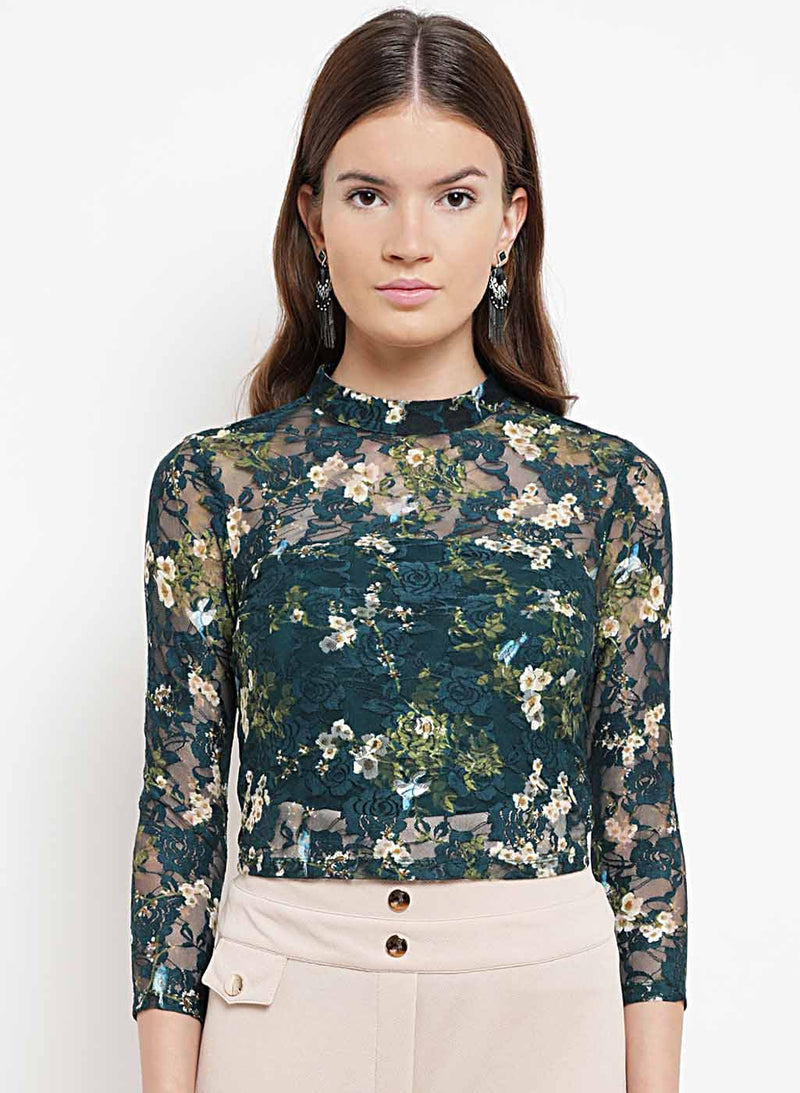 Claire Floral Stretch Lace Top(Additional 20% on 2)