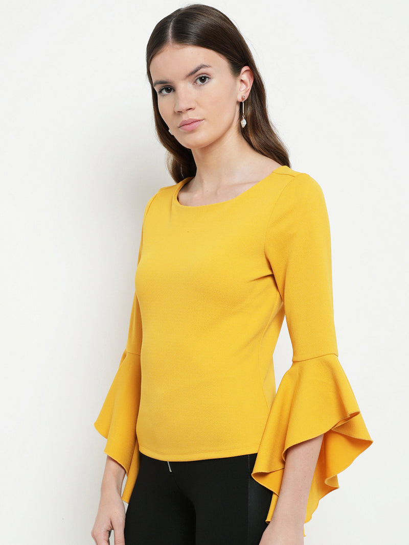 Dianna Bell Sleeve Round Neck Top