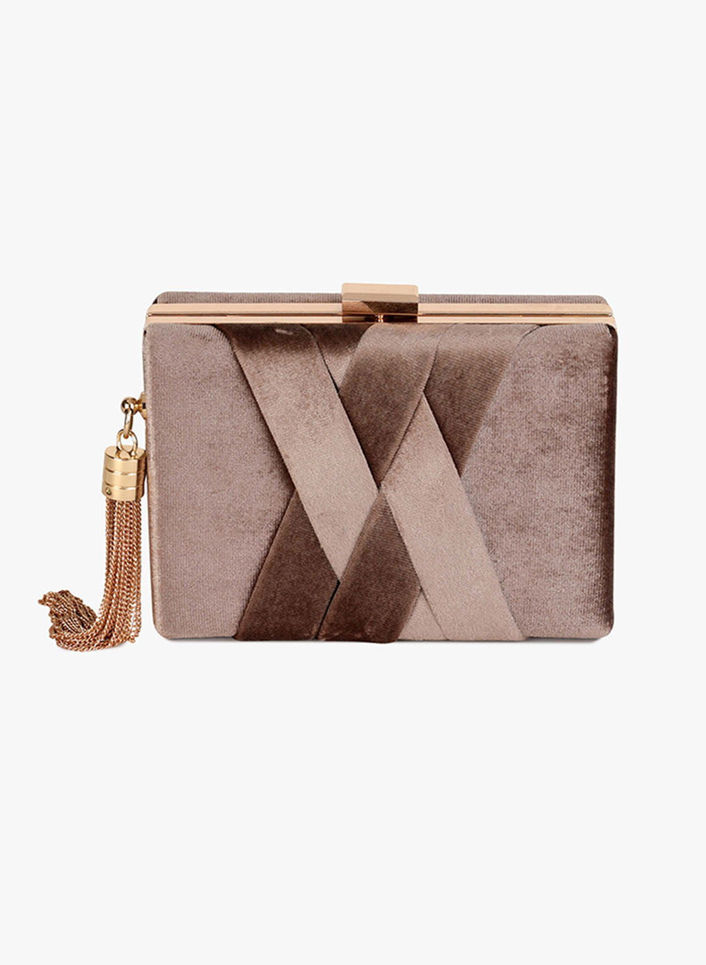 Gianna Copper Velvet Clutch