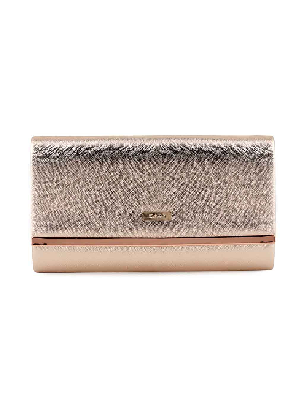 Olivia Bronze Leatherite Clutch