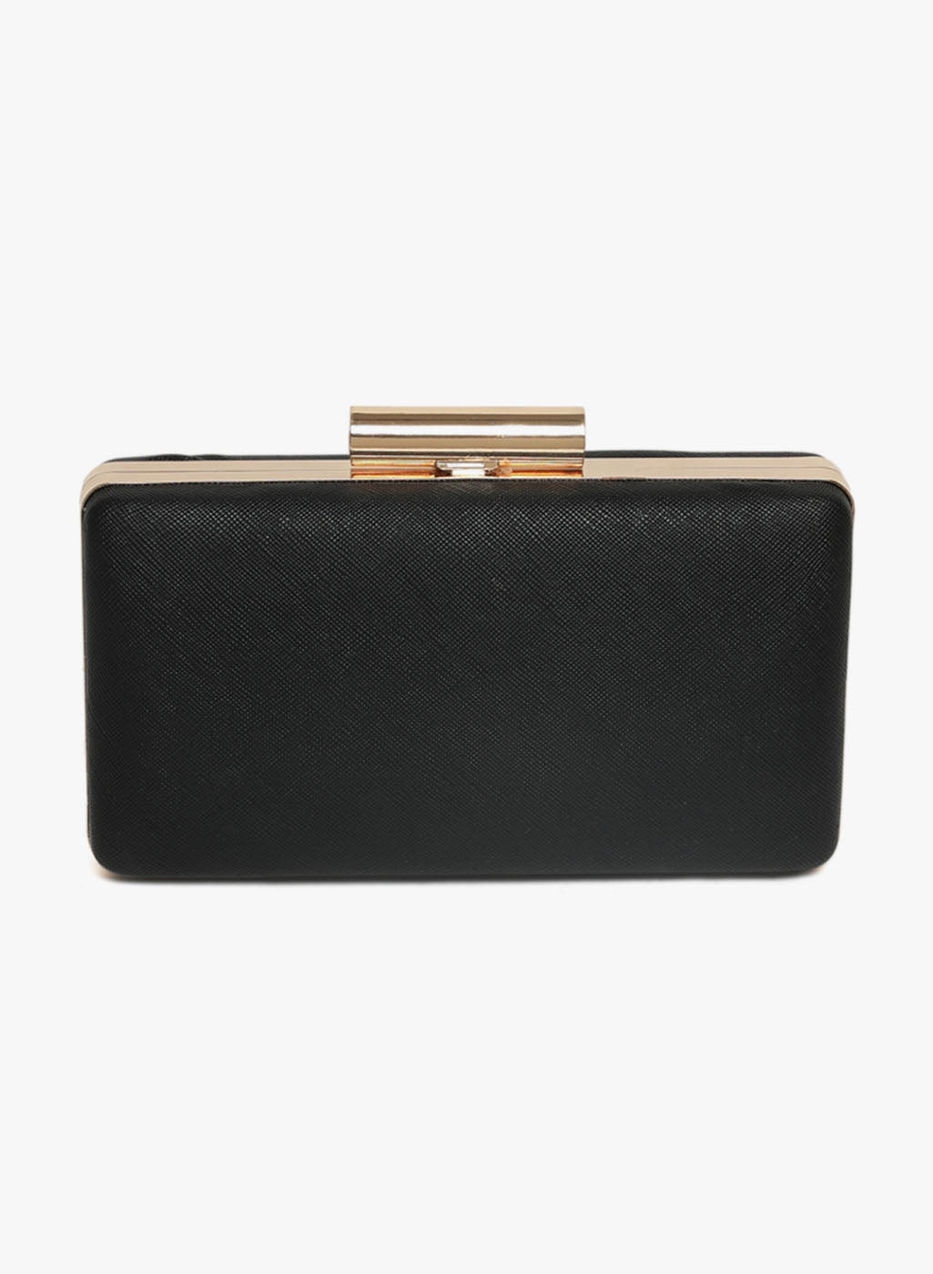 Nicole Shiny Black Color Minaudiere