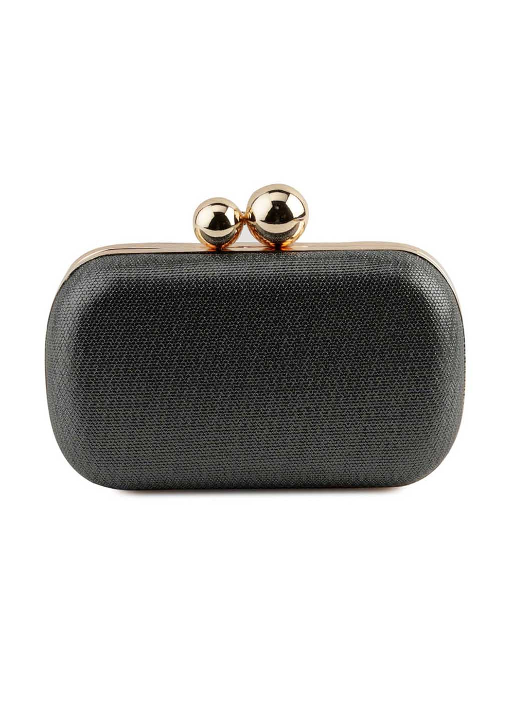 Rene Dark Grey Fabric Clutch