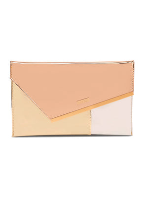 Judi Gold Multicolor Soft Clutch Bag