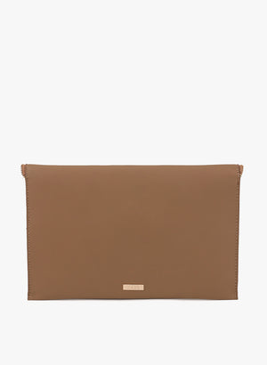 Bella Envelope Shape Tan Clutch