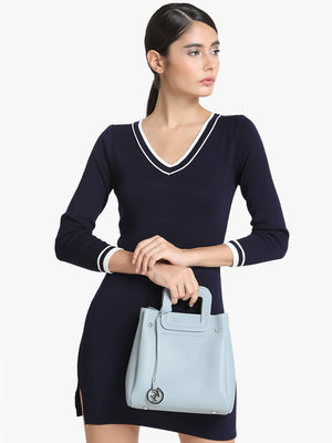 KAZO GREY SOLID HANDBAG AND POUCH (Buy 2 Get Extra 30% Off)