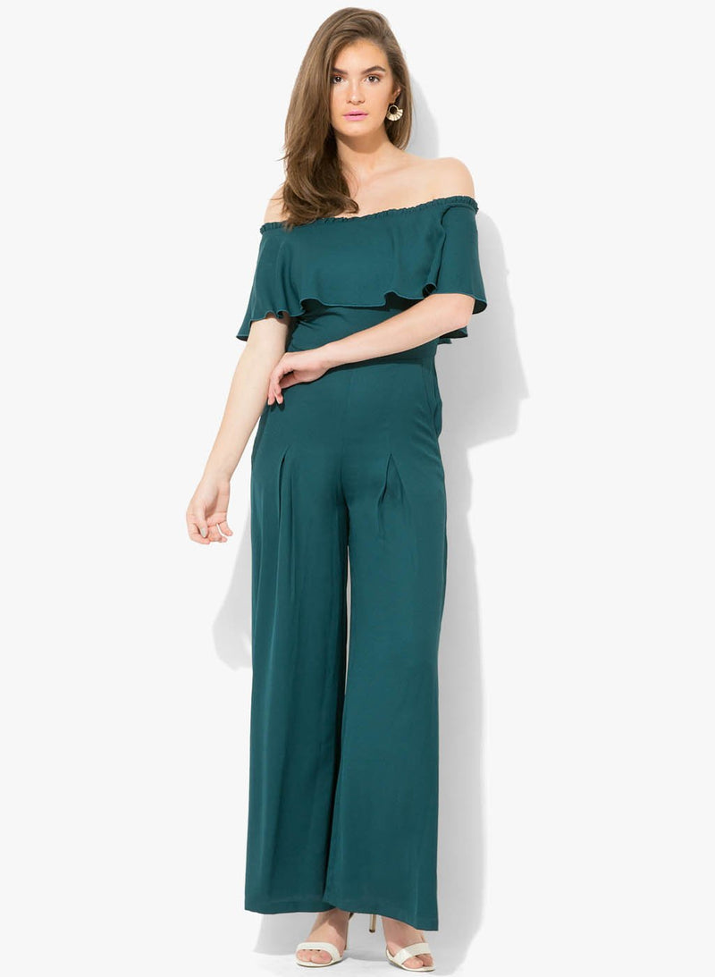 Claire Off Shoulder Ruffle Jumpsuit(Additional 20% on 2)
