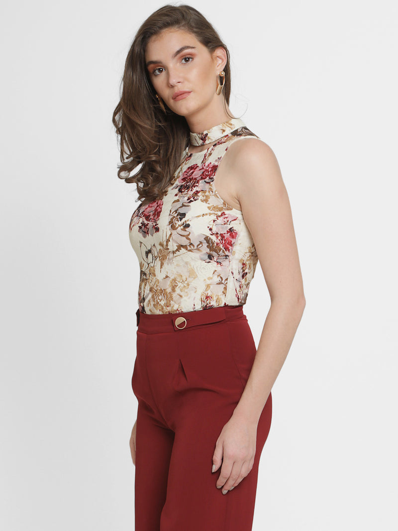 Adriana Stretch Lave Mandarin Collar Top(Additional 20% on 2)