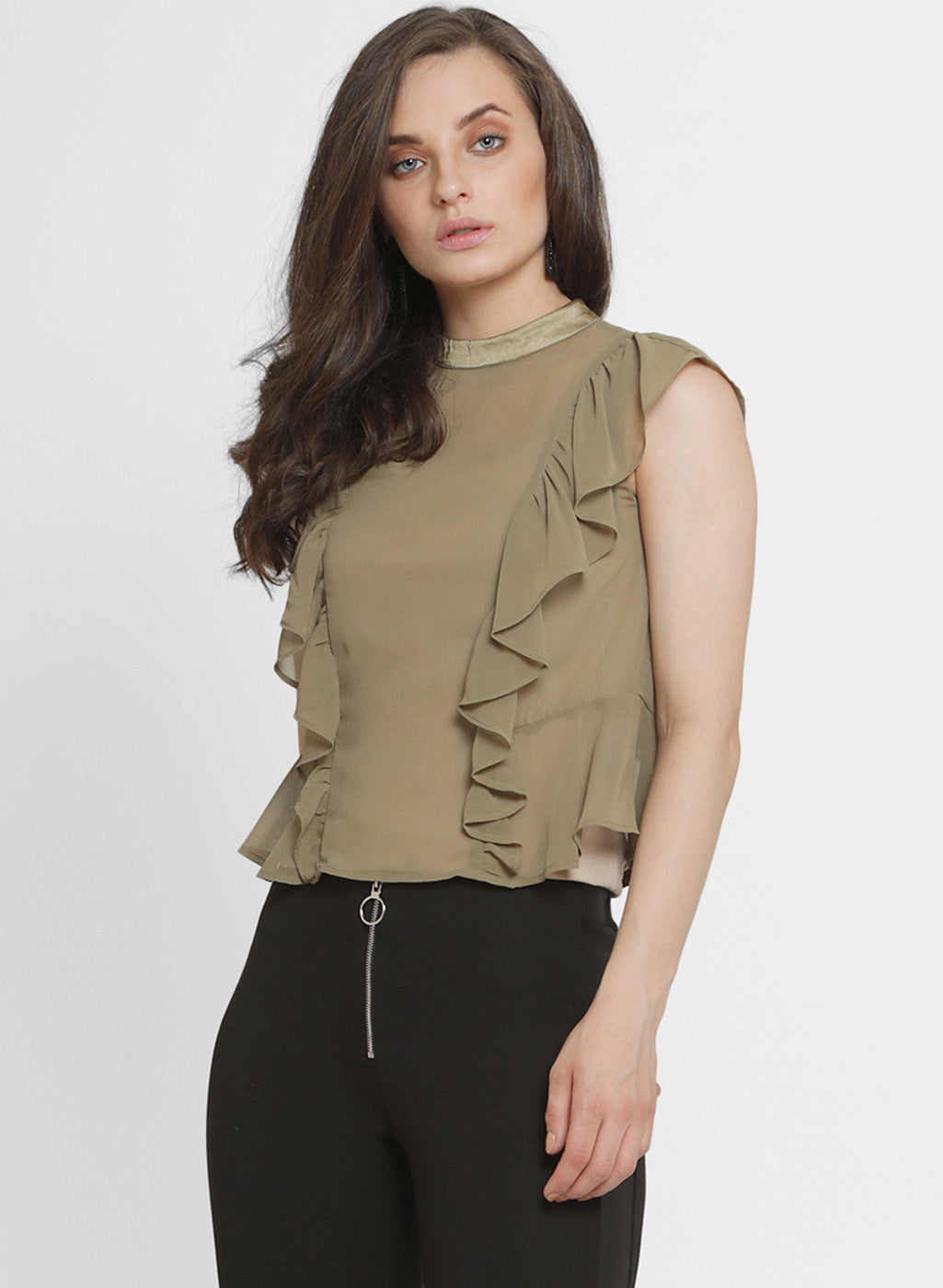 Moselle Princes Ruffle Top