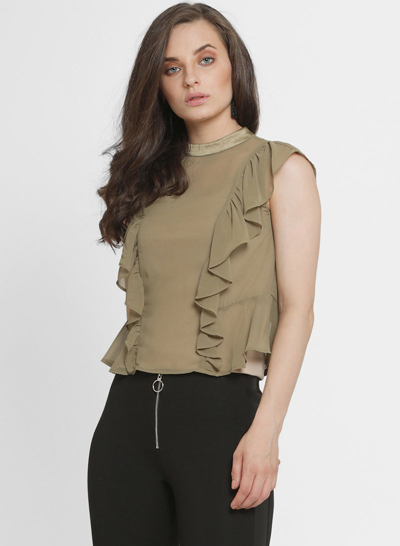 Moselle Princes Ruffle Top (Additional 20% OFF)