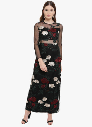 Eleni Embroidered Maxi Dress