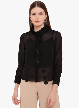 Fair Maiden Ruffle Detail Shirt