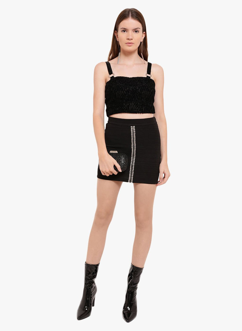 Sybille Stick-On Tape Detail Mini Skirt (Buy 2 Get Extra 30% Off)