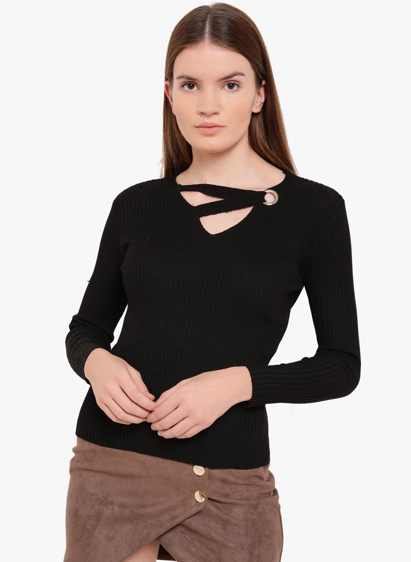 Amour Betina Eyelet Detail Sweater (Buy 2 Get Extra 30% Off)
