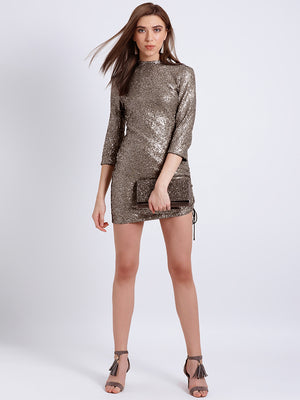 Isabella Sheeted Sequin Mini Dress