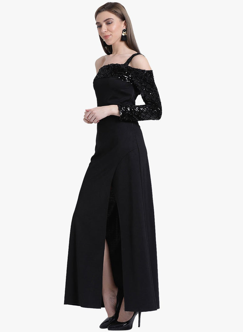 Evelyn One Shoulder Maxi Dress