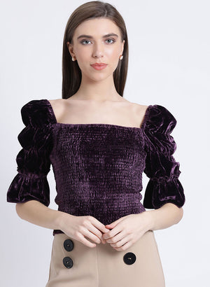 Dream Noir Smocking Top (Buy 2 Get Extra 30% Off)