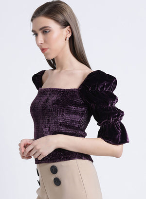 Dream Noir Smocking Top (Buy 2 or more Get 20% Off)