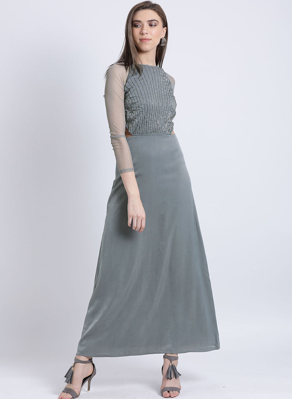 Dream Noir Embellished Maxi Dress