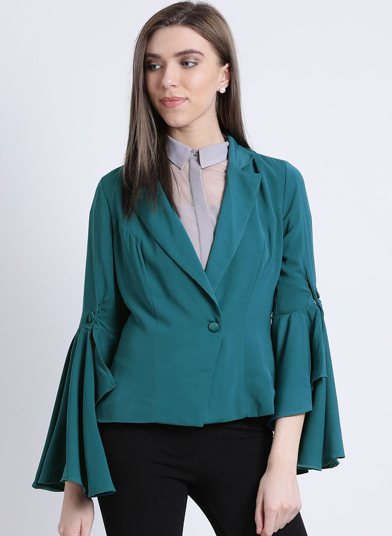 Desert Sage Flared Sleeves Jacket