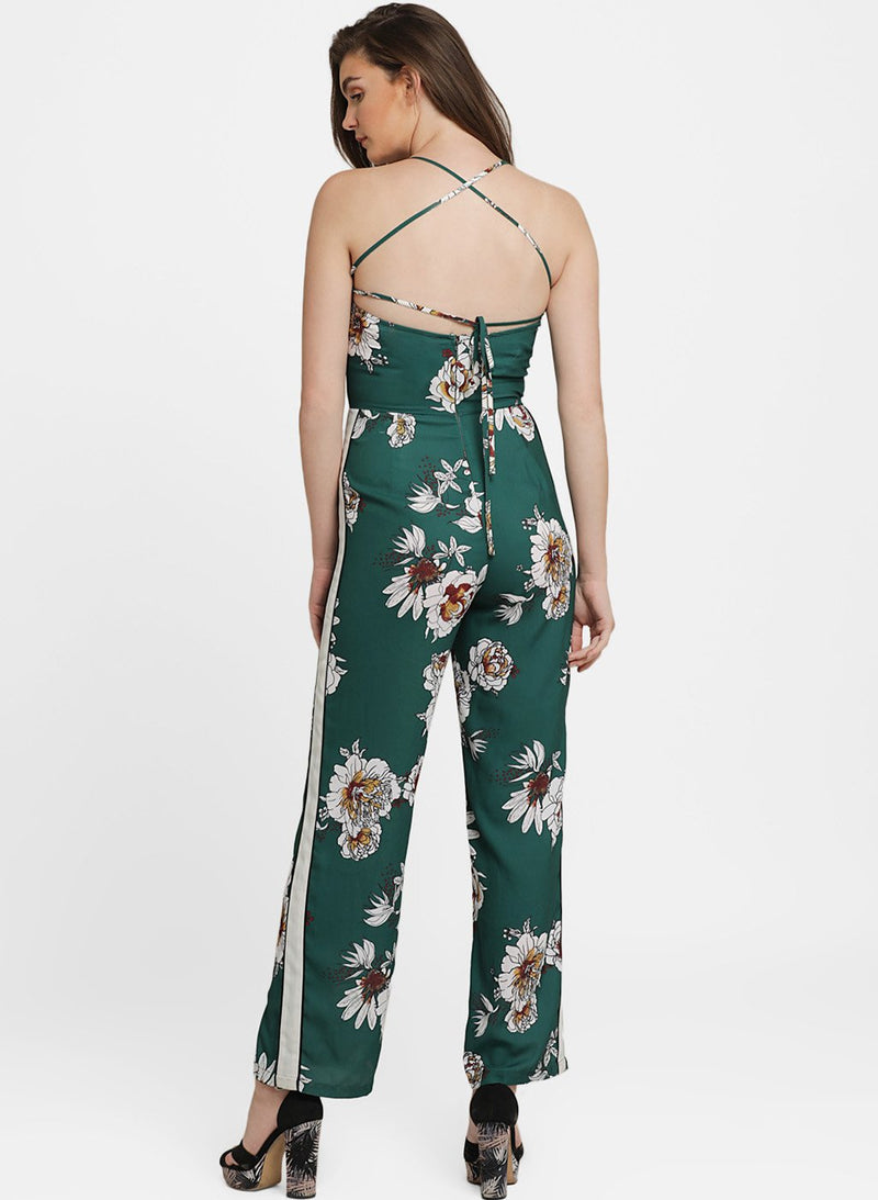Cheryl Printed Criss Cross Back Jumpsuit (Buy 2 or more Get 20% Off)