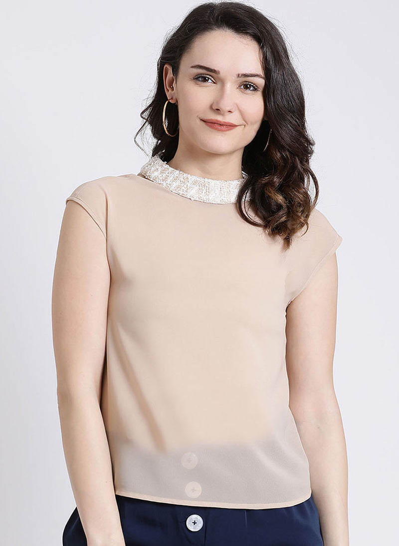 Tweed Neck Top (Additional 20% OFF)