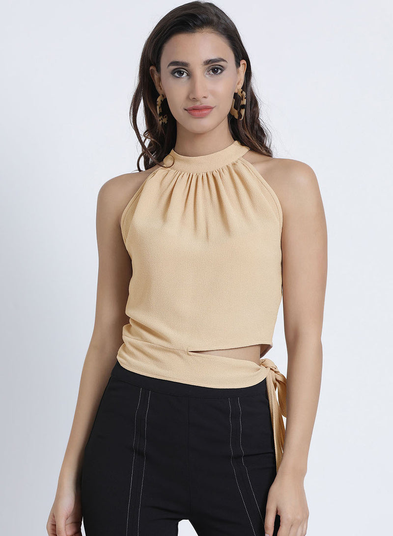 Halter Top With Side Cut (Additional 20% OFF)