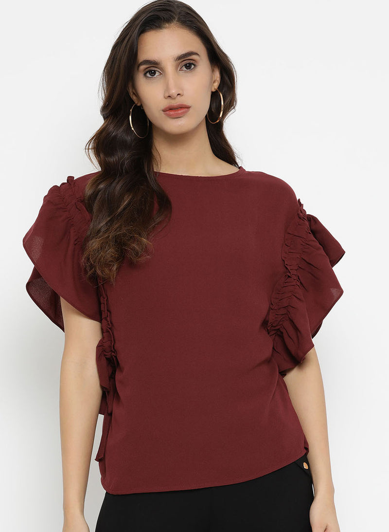 Gathered Draw String Boxy Top (Additional 20% OFF)