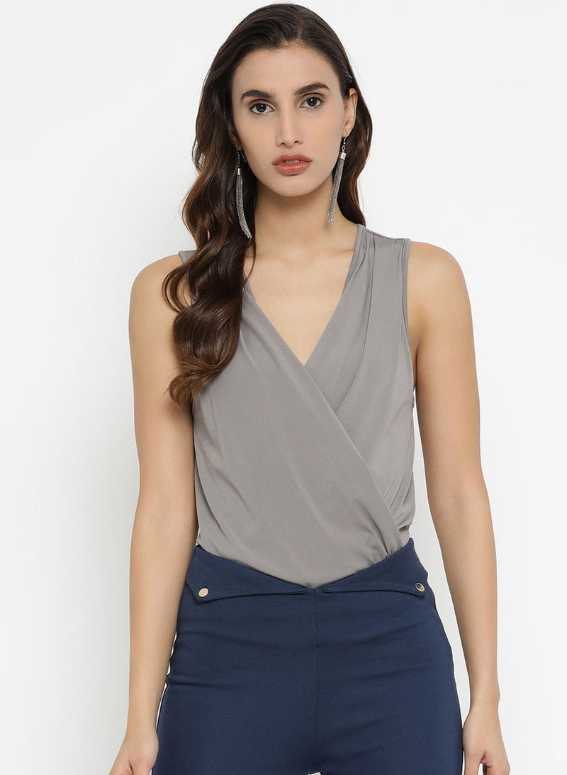 Vneck Wrap On Bodysuit