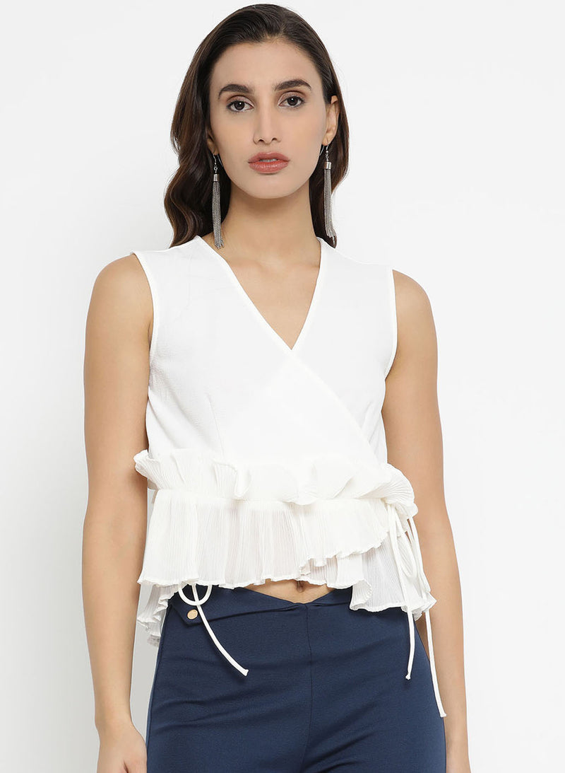 Pleated Ruffle Top (Additional 20% OFF)
