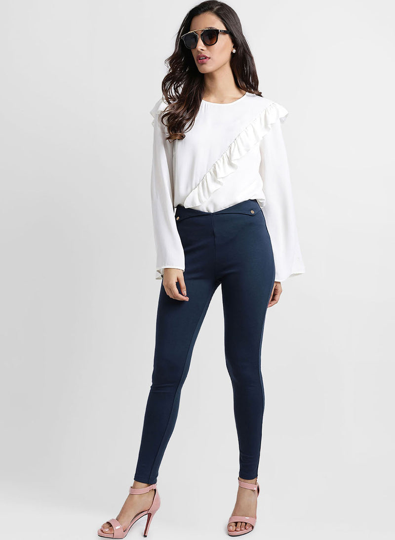 Jeggings With Button Detail