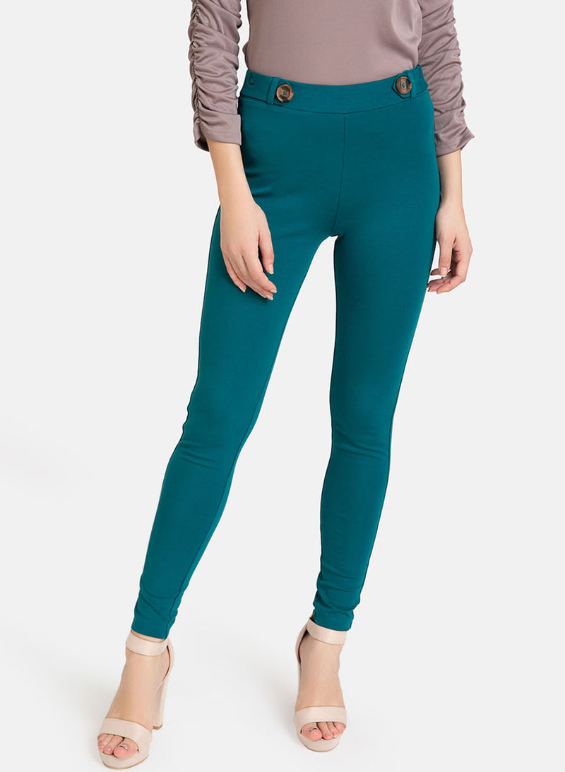 Jeggings With Tabs And Buttons