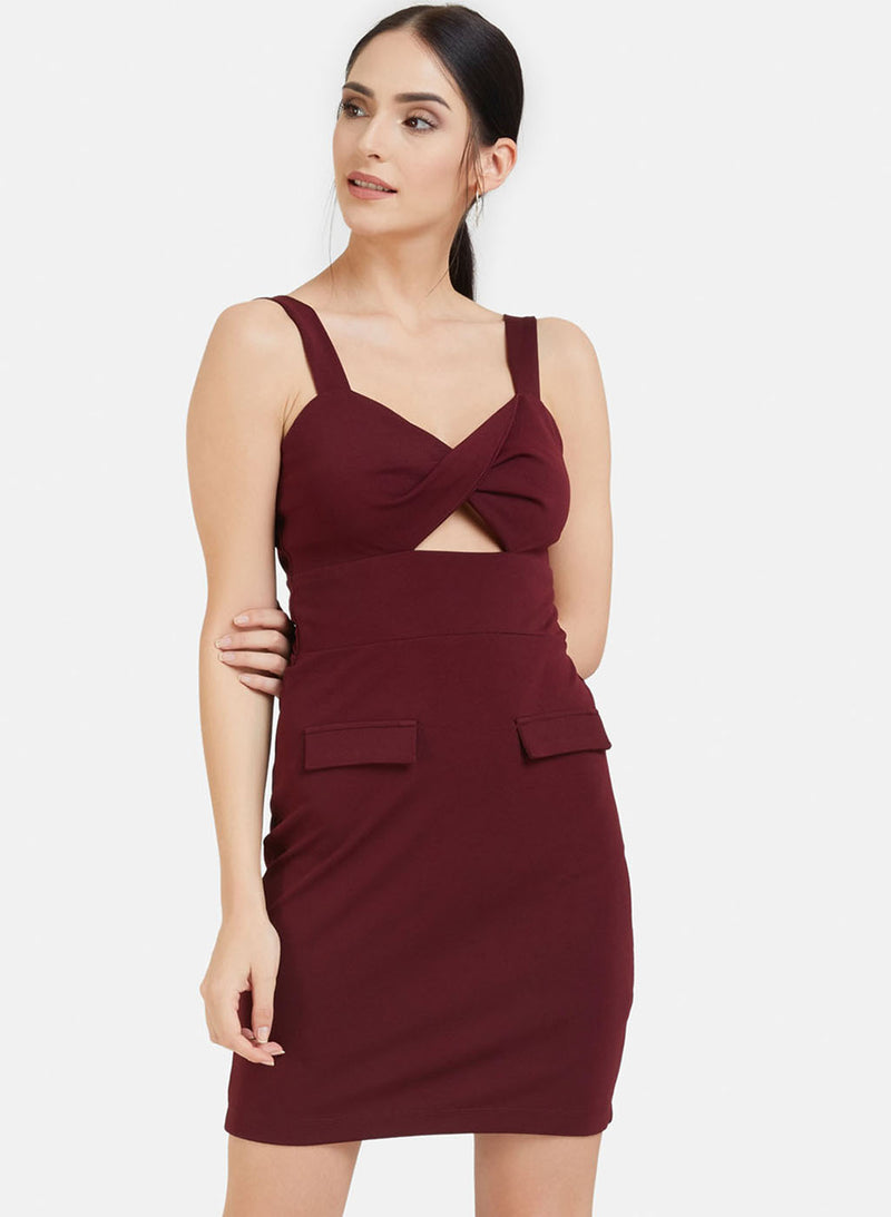 Mini Dress With Cut Out (Additional 20% OFF)