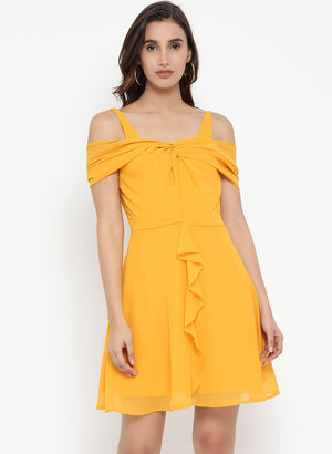 Ruffle Mini Dress(Additional 20% on 2)