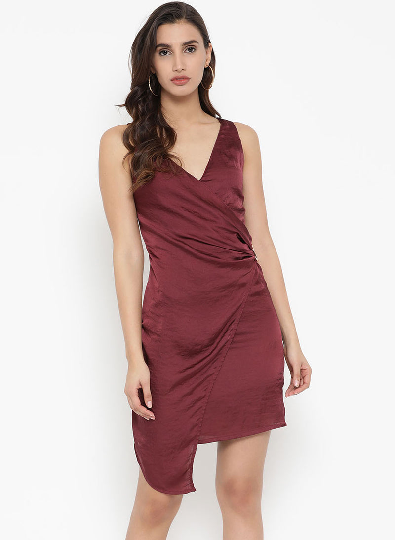 Belt Detail Pleated Mini Dress (Additional 20% OFF)