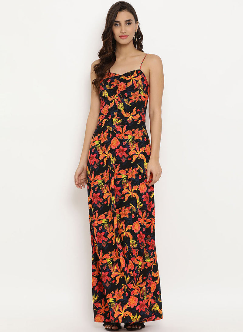 Floral Printed Maxi Dress (Additional 20% OFF)