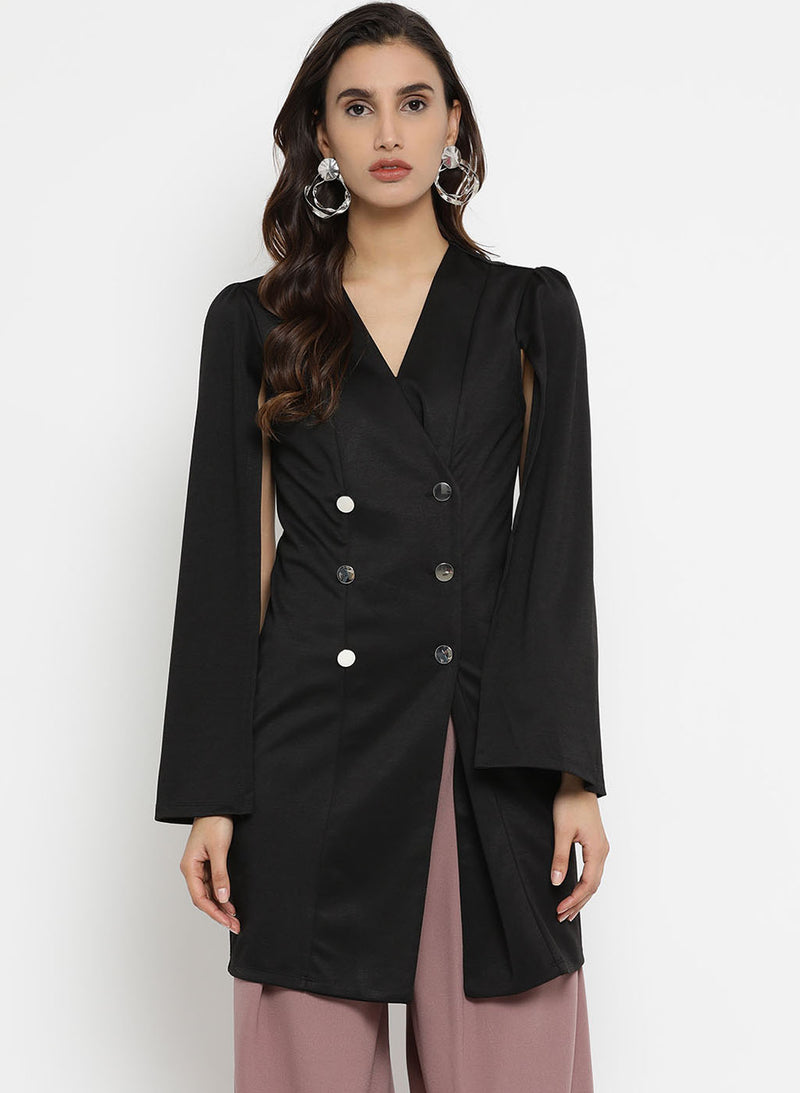 Jacket Dress With Power Shoulder