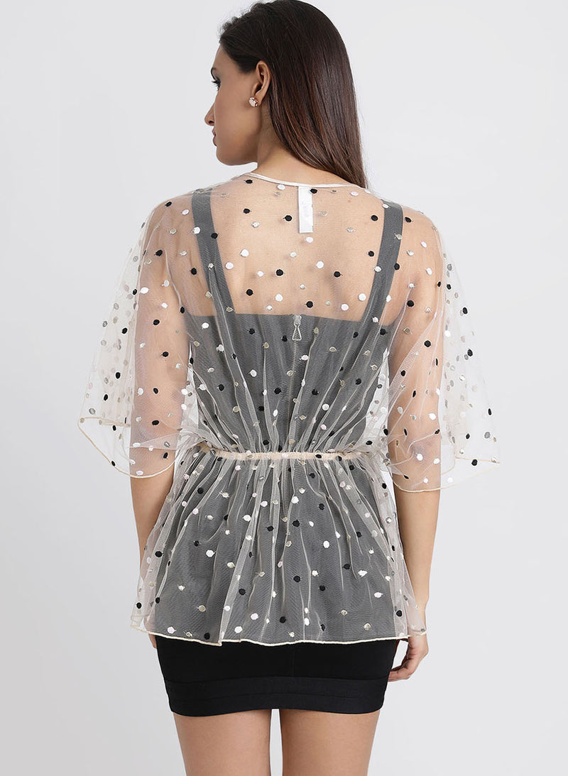 Mesh Cape With Dobby Pattern (Additional 20% OFF)