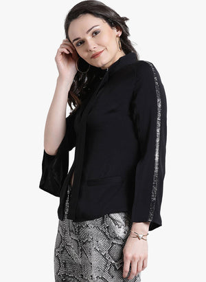 Embellished Sleeves With A Tie-Up On Neck (Additional 23% OFF)