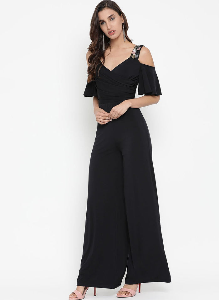 Jumpsuit With Embellished Strap