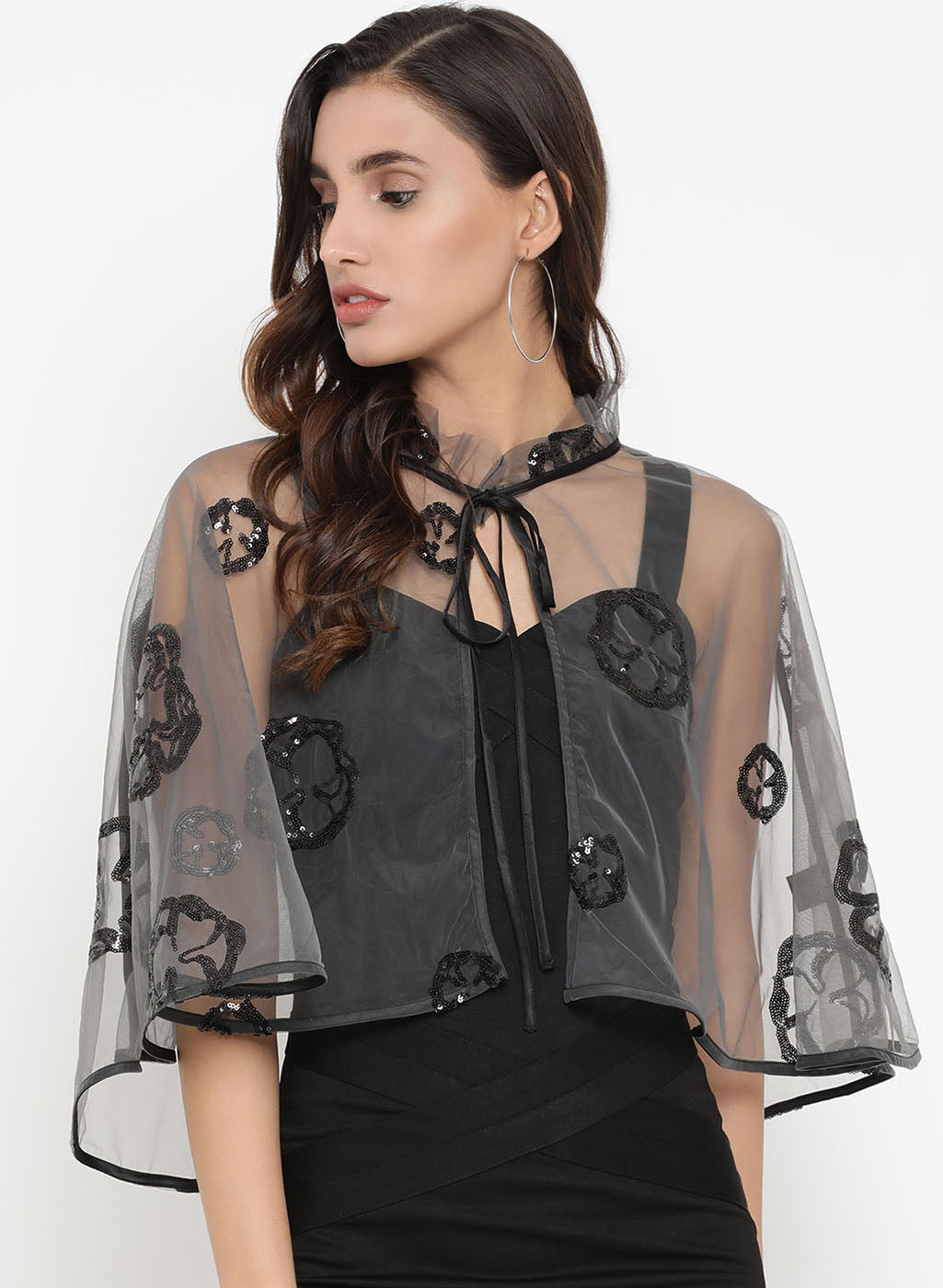 Embellished Motif Cape