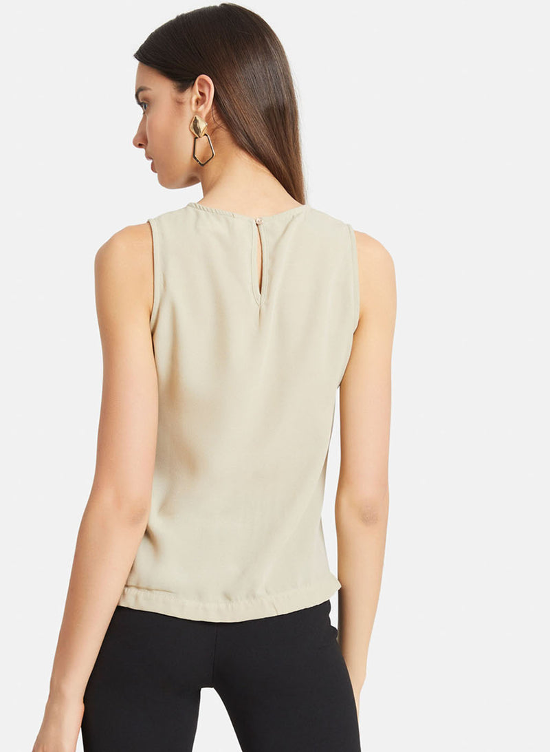 Asymmetric Front Sleeveless Top
