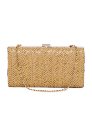 Weaved Textured Clutch