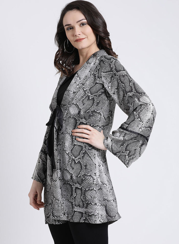Snake Print Long Cape (Additional 23% OFF)