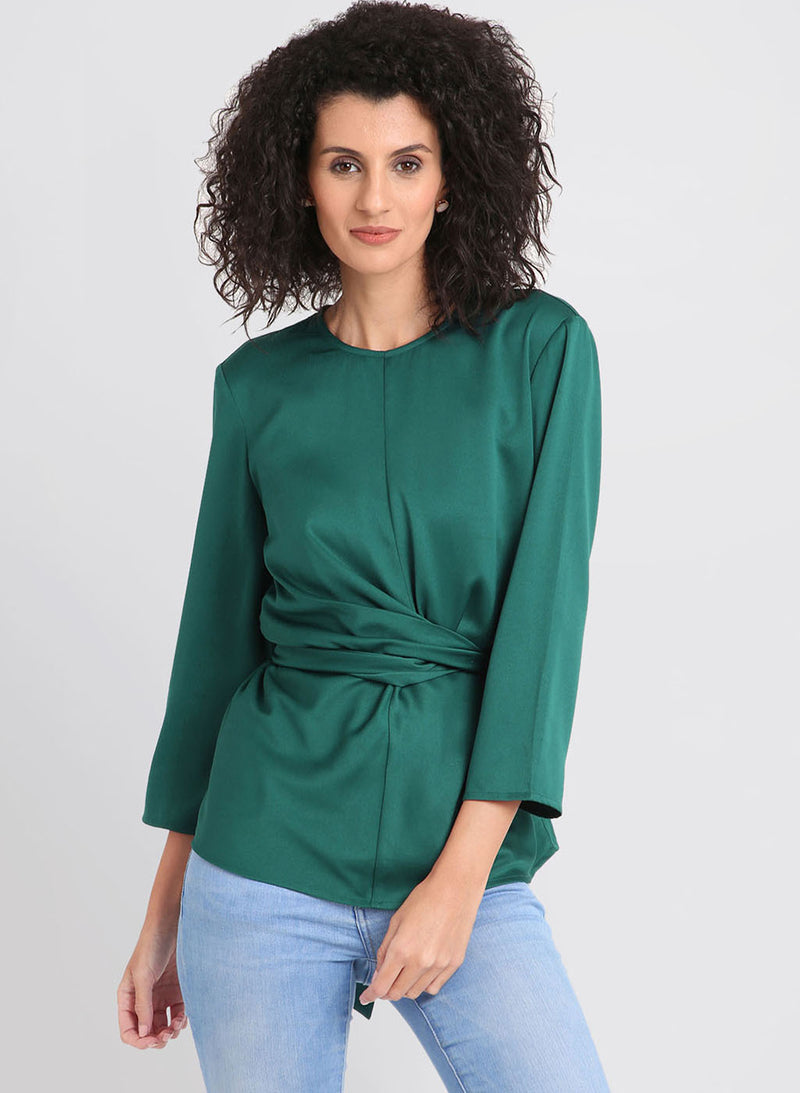 3/4 Sleeve Waist Tie Up Top (Additional 20% OFF)